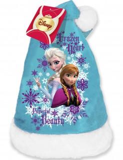 Die Eiskönigin Weihnachtsmütze für Kinder Lizenzartikel blau-weiß-lila 45cm Umfang