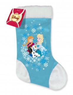 Weihnachtlicher Satinstrumpf Die Eiskönigin Lizenzartikel blau-weiß 31 x 22 cm