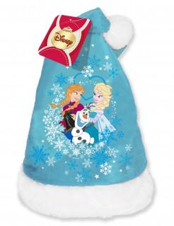 Zipfelmütze Die Eiskönigin für Kinder Lizenzartikel blau-weiß