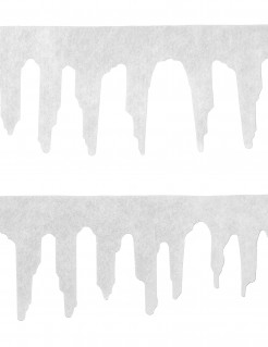 Eiszapfen-Deko Weihnachten Fensterdeko 2 Stück weiss 120cm