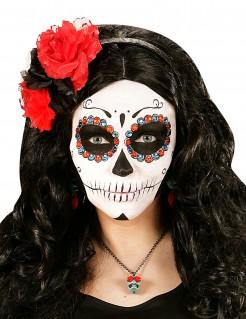 Sugar Skull Schmucksteine Tag der Toten Make-up 40-Stück rot-blau