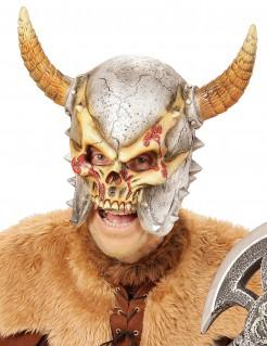 Wikinger-Krieger Totenkopf-Helm beige-grau