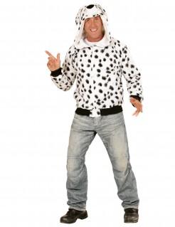 Dalmatiner Kapuzen-Hoodie Kostüm-Pullover schwarz-weiss