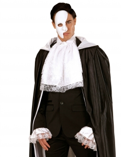 Weißes Jabot und Spitzen-Manchetten Kostümaccessoire Renaissance 3-teilig weiß