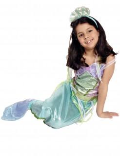 Meerjungfrau-Kostüm für Mädchen 2 -teilig blau-grün-violett metallic