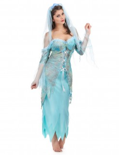 Wasser-Fee Damenkostüm Nixe blau-grau