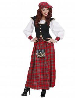 Schotten-Tracht Frauenkostüm rot