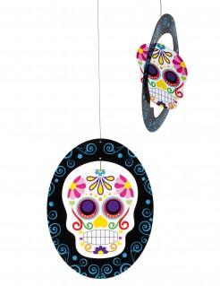 Dia de los Muertos Sugar Skull Halloween-Hängedeko bunt 35 x 28cm