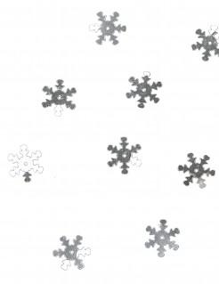 Schneeflocken Konfetti Tischdeko silber 10 g