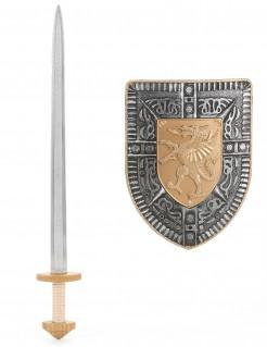 Ritter Accessoire-Set Schwert und Schild für Kinder