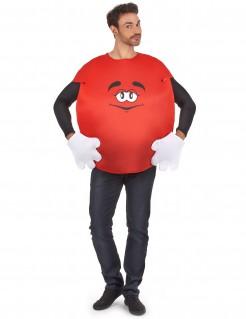 Rotes Bonbon Unisex Kostüm rot-weiss