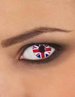 Kontaktlinsen Union Jack Großbritannien blau-rot-weiss