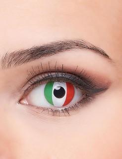 Kontaktlinsen Italien grün-weiss-rot