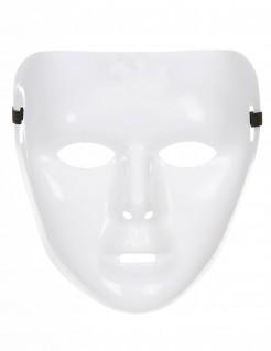 Phantom Karneval-Maske Anonymous weiss