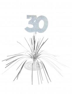 Tischdekoration 30. Geburtstag silber 29 x 30cm