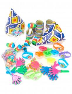 Accessoire Set Partyzubehör 48-teilig (für 6 Kinder) bunt