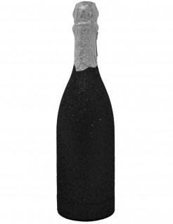 Konfettikanone Glitzer schwarz 32 cm hoch