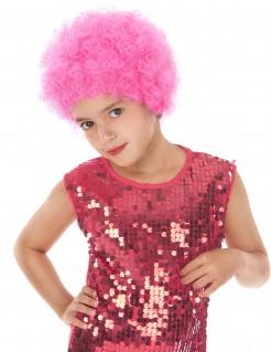 Disco-Kinderperücke funky rosa
