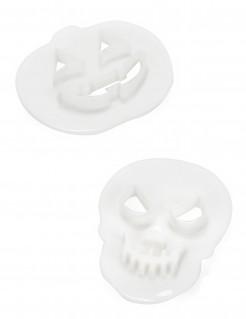 Halloween-Ausstechförmchen beidseitig verwendbar 2 Stück weiß