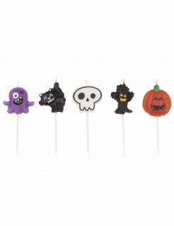 Halloween-Kerzen Halloween-Tischdeko bunt