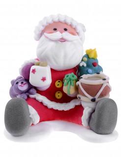Essbarer Weihnachtsmann Weihnachts-Süßigkeit bunt 6x6x6cm