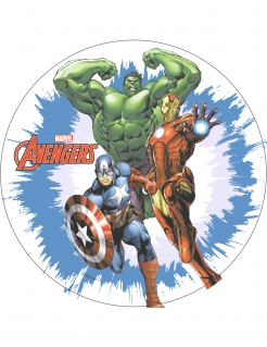 Avengers-Oblate - Kuchendekoration blau-rot-grün