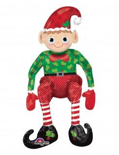 Weihnachtswichtel Folien-Luftballon rot-grün