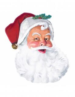 Weihnachtsmann Wanddekoration weiß-rot-grün 66 x 40 cm