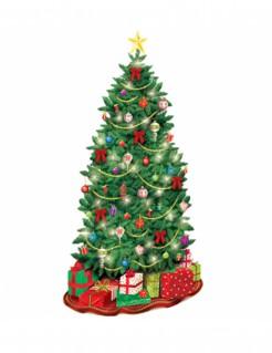 Geschmückter Weihnachtsbaum Wanddeko Weihnachten