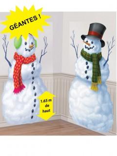 Wanddeko Schneemänner