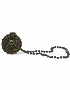 Halskette Kostümaccessoire Piraten gold-antik 70 cm lang