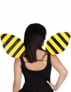 Bienenflügel Kostümzubehör schwarz-gelb