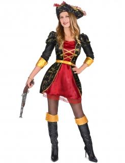 Vornehme Piratin Freibeuterin schwarz-rot-gold