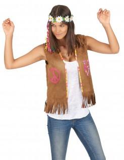 Damenweste Hippie Weste hellbraun