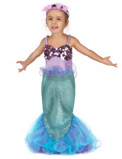 Meerjungfrau-Kostüm für Kinder blau-lila
