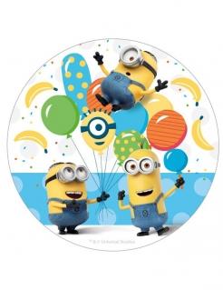 Minions™-Oblate Minions™-Dekorplatte weiss-gelb-blau 16cm