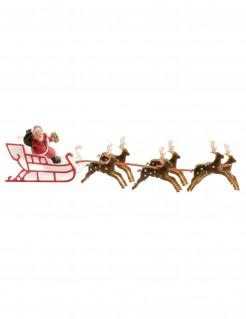 Weihnachtsmann Dekoration für Kuchen rot-braun 22cm lang