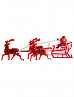 Weihnachtsfigur mit Rentieren Dekoration rot-weiß 14 cm lang