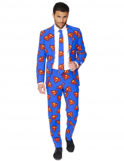 Superman-Herrenanzug von Opposuits blau