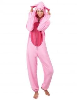 Lustiges Schwein Kostüm für Damen rosa-pink