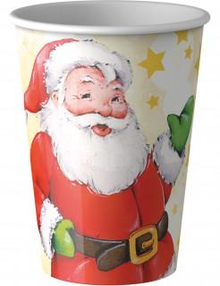 Pappbecher Weihnachtsmann Partydekoration 8 Stück bunt 200 ml