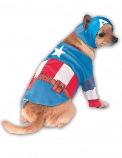 Marvel Captain America Hundekostüm Lizenzware blau-rot-weiss