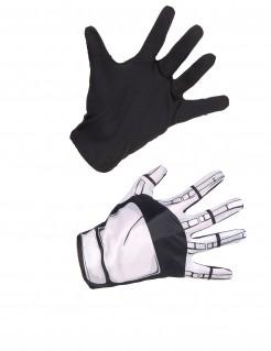 Offizielle Captain Phasma - Star Wars™ Erwachsenen-Handschuhe schwarz-grau