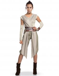 Star Wars Rey Damenkostüm Deluxe Lizenzware beige-braun