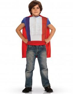 Französisches Heldenkostüm mit Cape für Kinder - blau-weiß-rot