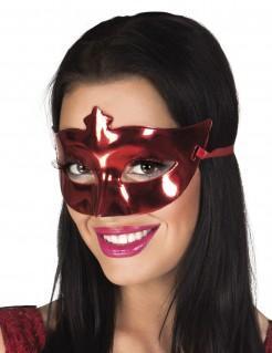 Karnevalsmaske Glänzende Augenmaske rot
