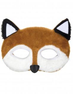 Maske Fuchs Kostümaccessoire Tiere braun-weiß-schwarz 18 x 11 cm