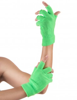 Fingerlose Armstulpen Handschuhe grün
