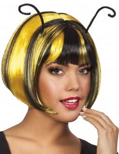 Biene Bob-Perücke mit Fühlern gelb-schwarz