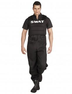 SWAT-Kostüm Polizei-Herrenkostüm schwarz-weiss